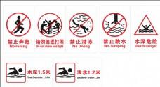 游泳警示牌