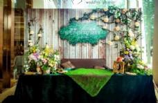 木纹 婚礼背景