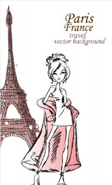 卡通时尚女孩