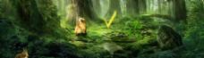 梦幻森林风景海报