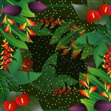 丛林花卉丝巾