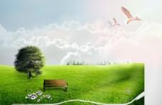 天空 草地