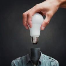 创意人物灯泡