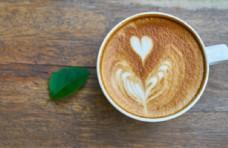 爱心拉花咖啡
