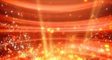 大气红金色粒子晚会节日合成