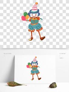 唯美小丑表演png元素