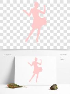 唯美卡通水粉少女透明素材