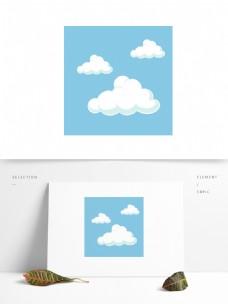 蓝天白云矢量卡通元素