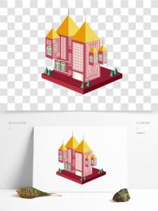 2.5D建筑元素楼房房产地产免抠png