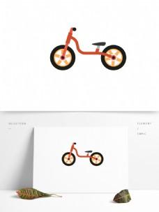 自行车卡通交通工具矢量元素