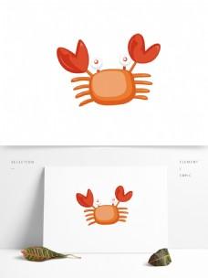 螃蟹矢量卡通元素