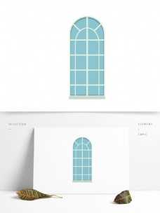窗户玻璃卡通矢量元素