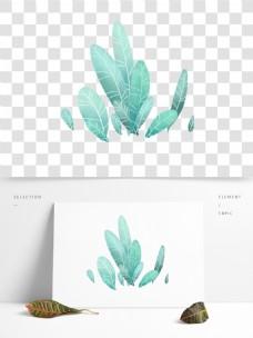 春季绿叶png透明素材