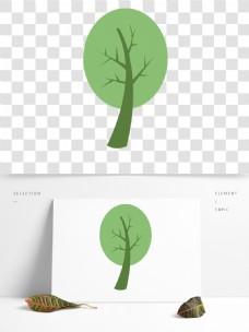 春季出游卡通树木元素