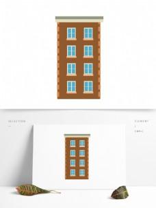 建筑房子矢量卡通元素