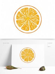 简约卡通手绘橙子模板