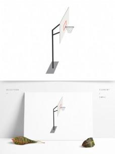 篮球架矢量卡通元素