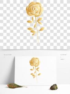 手绘玫瑰花卉PNG透明素材