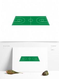 篮球场矢量卡通元素