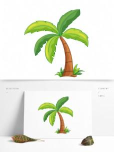 椰树矢量卡通元素