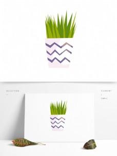 植物盆栽矢量卡通元素