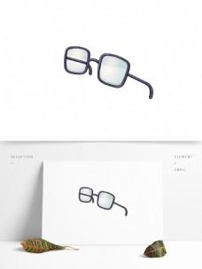 眼镜卡通矢量元素