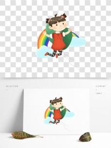 卡通彩虹儿童元素设计
