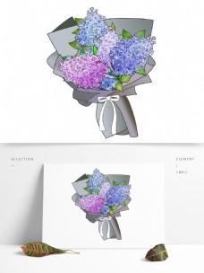 情人节紫色丁香花花束