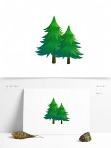 松树卡通矢量元素
