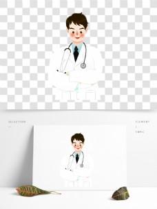 彩绘卡通医生人物图案