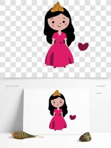 儿童节卡通可爱粉色公主女孩