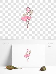 亲亲情人节爱心气球原创装饰