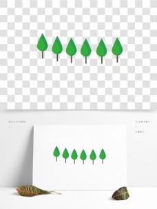 小清新绿色树木植物素材