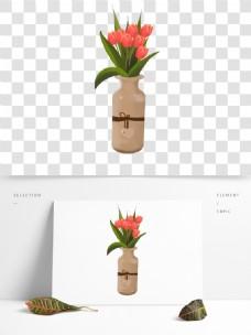 清新风绿色植物盆栽素材