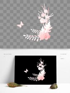 婚礼水彩花卉PNG素材