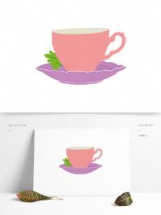 矢量手绘咖啡杯元素