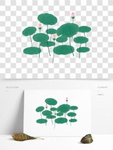 立夏荷花植物透明素材