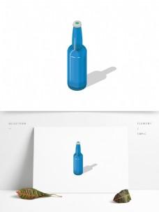 矢量手绘啤酒瓶元素
