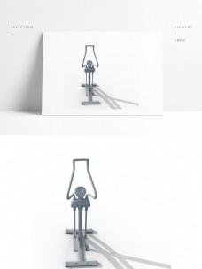 运动健身器材3d模型