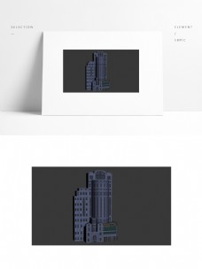 现代写字楼场景模型带贴图png透明底图