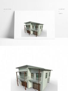 现代别墅场景模型带贴图