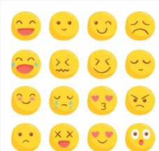 16款可爱圆脸表情设计