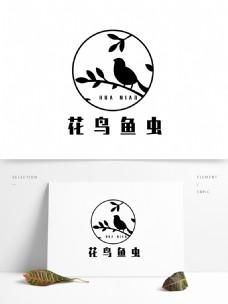 原创花鸟鱼虫元素标识