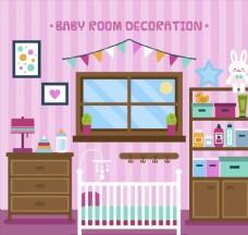 彩色婴儿房家居设计