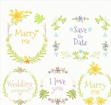 5款彩色婚礼花环
