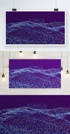 跳动彩色科技的粒子背景