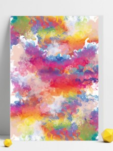 原创水彩水墨抽象艺术泼画