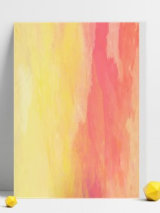 原创彩绘橙色渐变背景水彩擦画