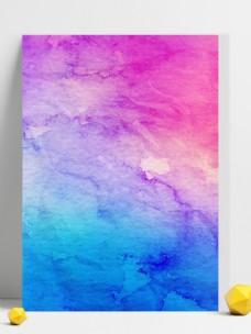 原创七彩水粉彩绘背景渐变插画