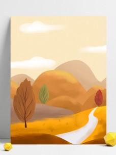 二十四节气秋季风景背景